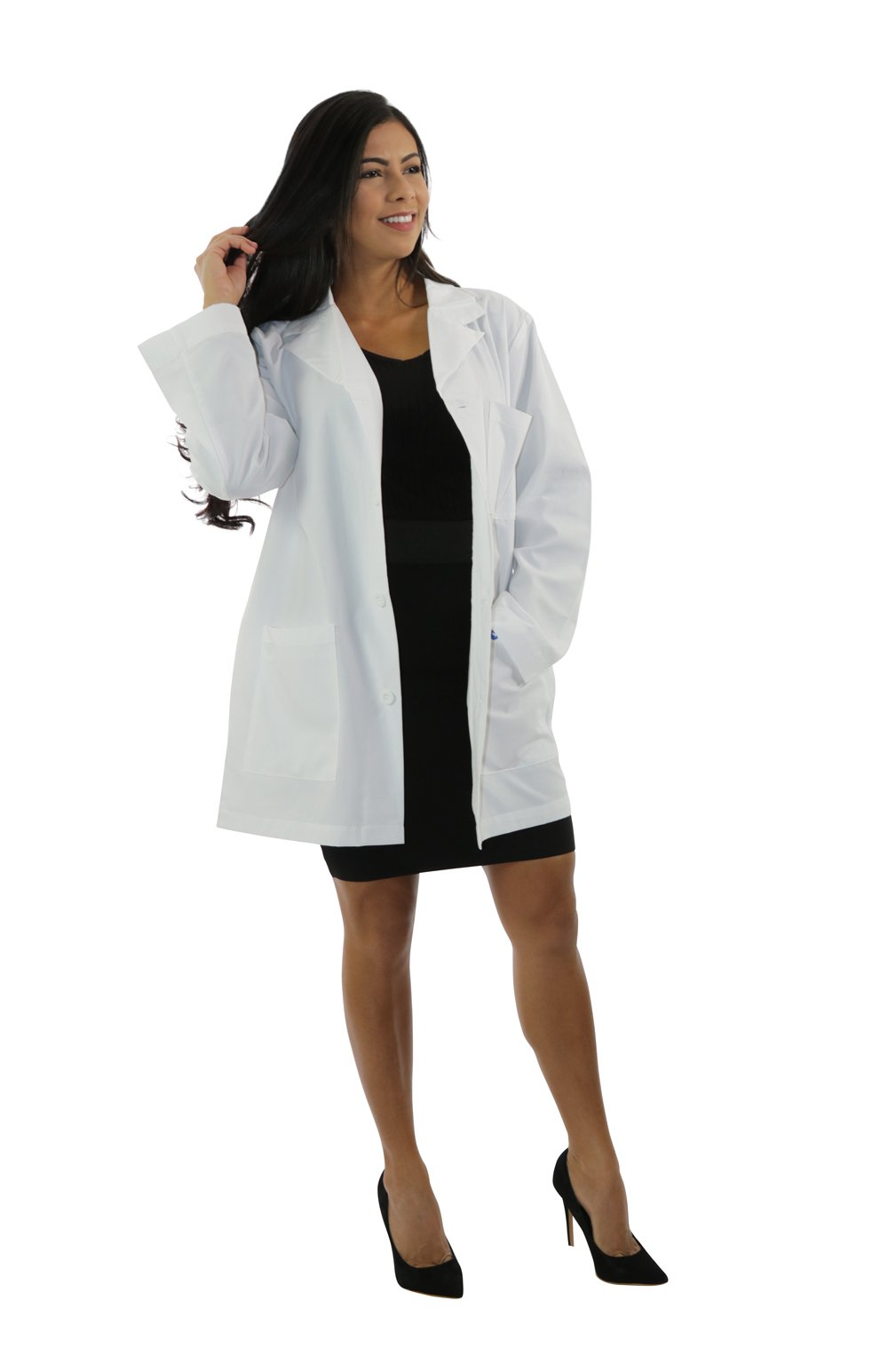 "401A - 34"" Antimicrobial Lab Coat"