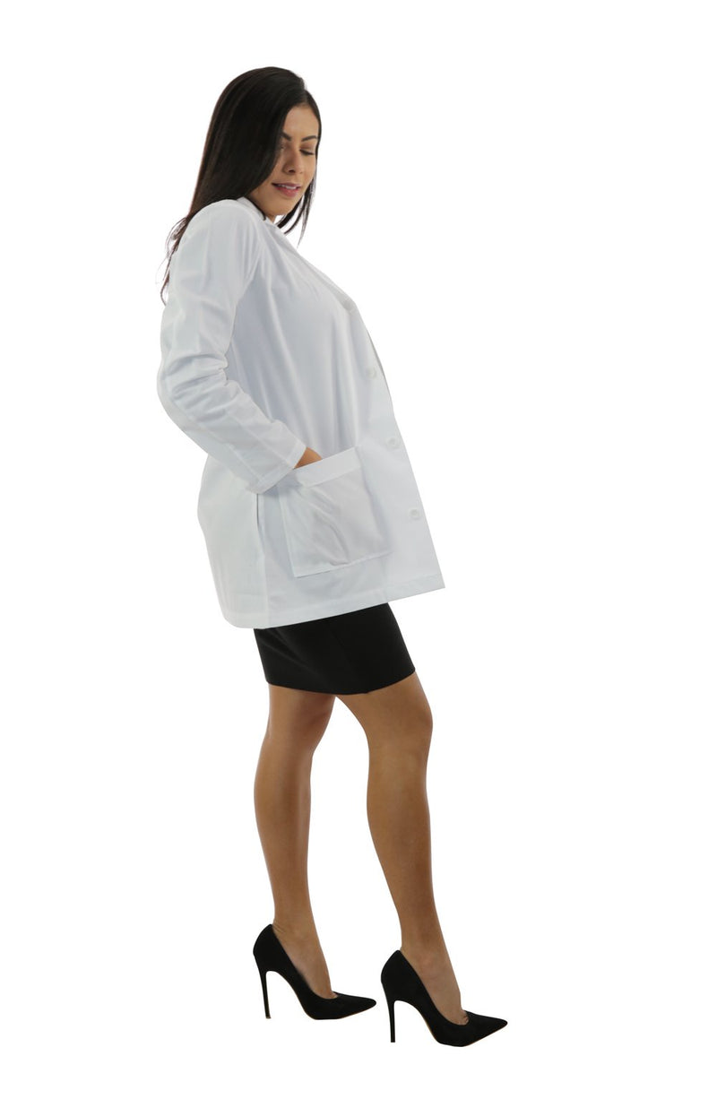 "410A - 34"" Antimicrobial Ladies Lab Coat"