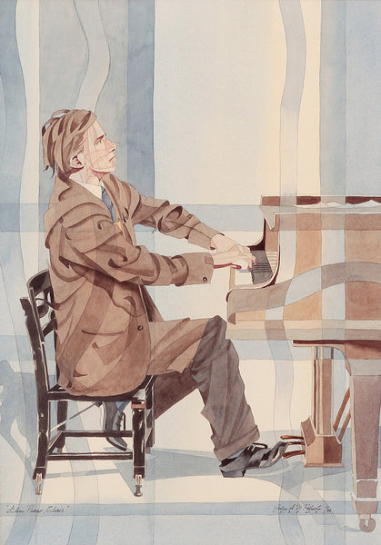 Portrait of Glenn Gould Sitting in his Favourite Piano Chair