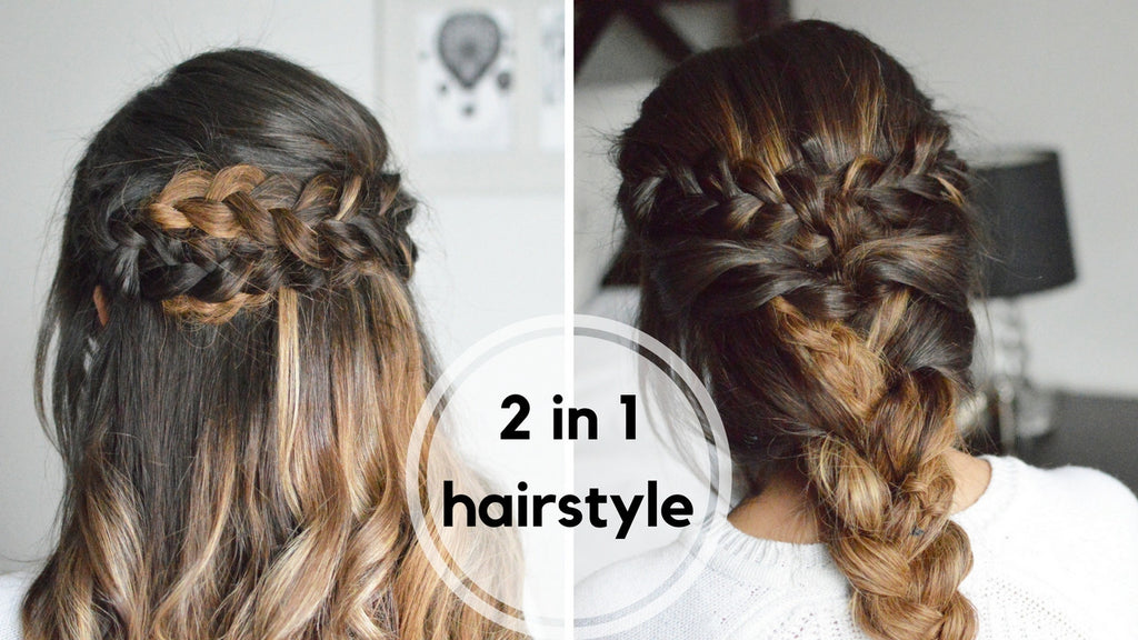 2 IN 1 Braided Hairstyles Tutorial