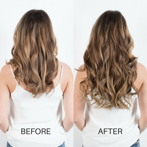 BEFORE AND AFTER Hair extensions - Golden Blonde 16