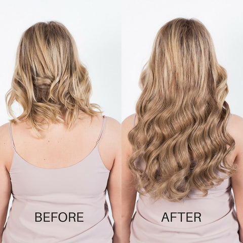 BEFORE AND AFTER Hair extensions - Dirty Blonde 18