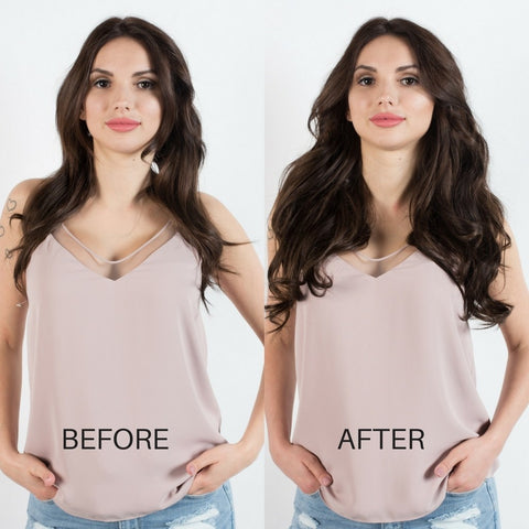 BEFORE AND AFTER Hair extensions - Mocha Brown 1c