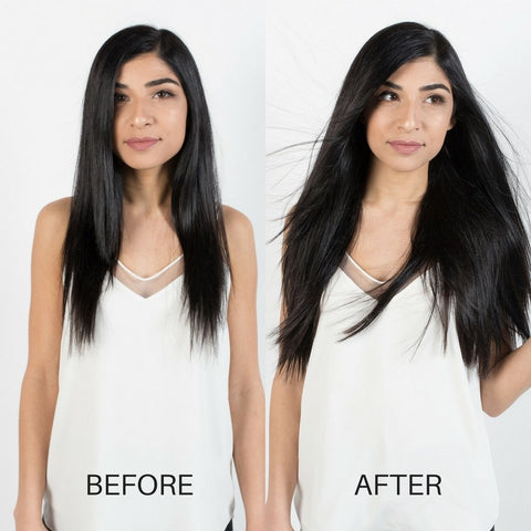 BEFORE AND AFTER Hair extensions - Jet Black #1