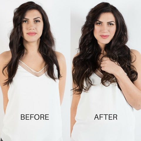 BEFORE AND AFTER Hair extensions - Dark Brown 2
