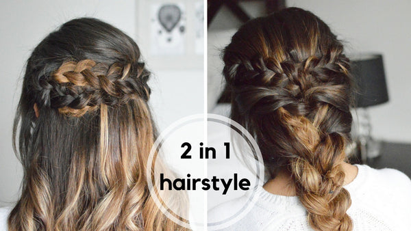 2 IN 1 BRAIDED HAIRSTYLES TUTORIAL ANCHANTE HAIR