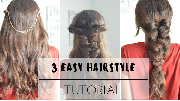 Anchante Hair - 100% Remy Human Hair Extensions by Konul Iskenderova 3 Easy Hairstyle Tutorial