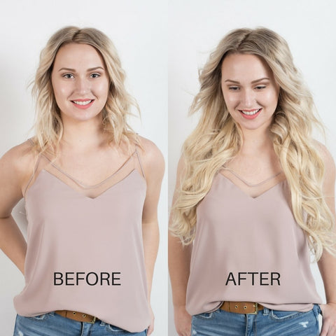 BEFORE AND AFTER Hair extensions - Platinum blonde 60