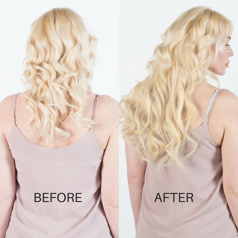 BEFORE AND AFTER Hair extensions - Bleach Blonde 613