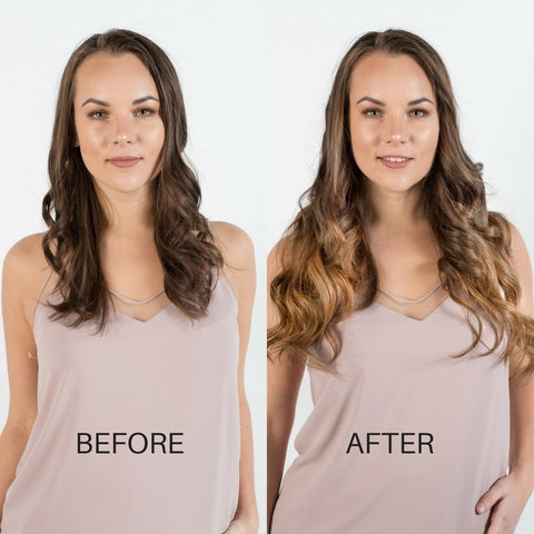 BEFORE AND AFTER Hair extensions - Ombre chestnut T1C6