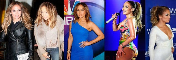 Jennifer Lopez - queen of hair extensions