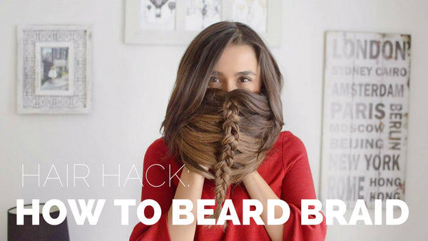 Anchante Hair - 100% Remy Human Hair Extensions by Konul Iskenderova - How To Beard Braid Tutorial