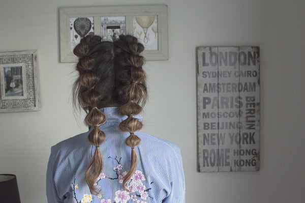 bubble pigtail braid how to anchante hair youtube tutorial