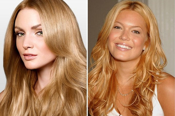 golden blonde anchante hair extensions