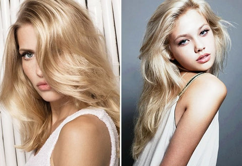 pearl blonde anchante hair extensions