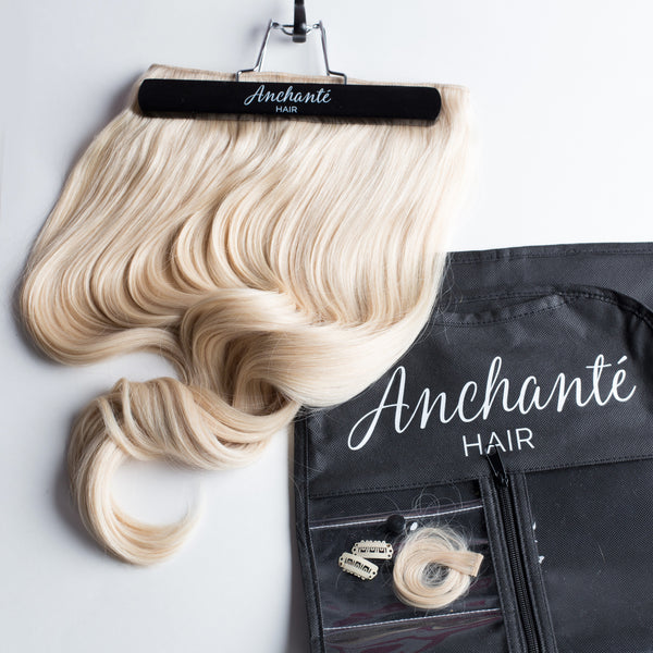 Platinum Blonde Anchante Hair extensions