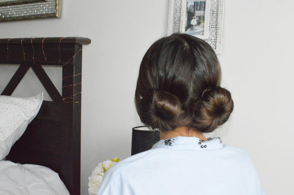 double twist bun anchante hair