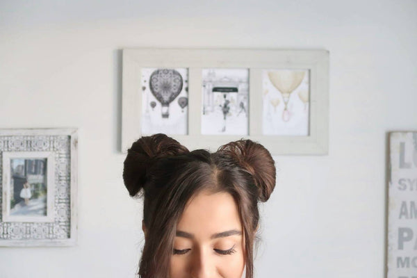 Anchante Hair - 100% Remy Human Hair Extensions by Konul Iskenderova Cute Mickey Buns Hair Hack