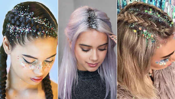 GLITTER ROOTS NEW HAIR TREND: PERFECT FESTIVAL HAIRSTYLE
