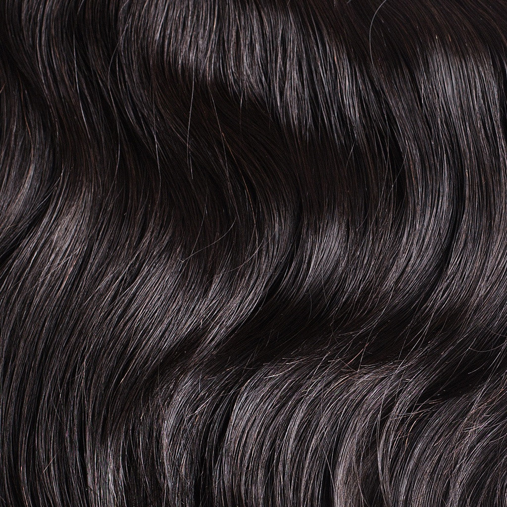 "120 Grams | Length 20"" - OFF BLACK #1B-CLIP IN HUMAN HAIR EXTENSIONS"