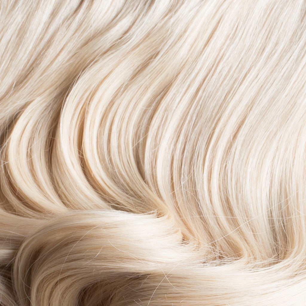 "160 Grams | Length 20"" - PLATINUM BLONDE #60-CLIP IN HUMAN HAIR EXTENSIONS"