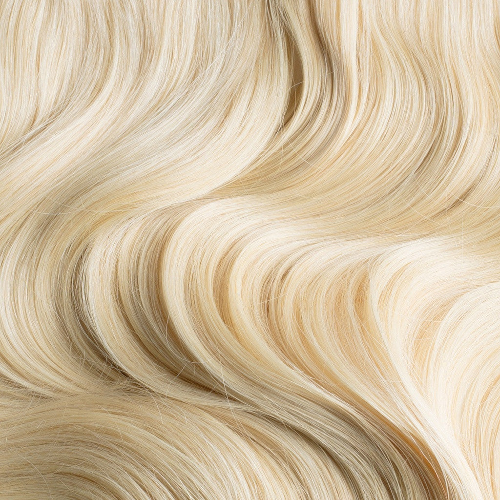 "220 Grams | Length 20"" - BLEACH BLONDE #613 - CLIP IN HUMAN HAIR EXTENSIONS"