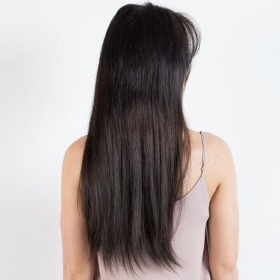 "160 Grams | Length 20"" - OFF BLACK #1B-CLIP IN HUMAN HAIR EXTENSIONS"