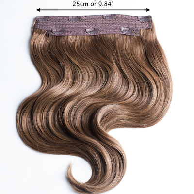 "120 Grams | Length 20"" - CHESTNUT BROWN #6-CLIP IN HUMAN HAIR EXTENSIONS"