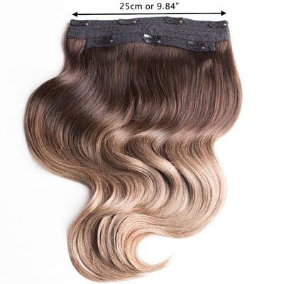 "220 Grams | Length 20"" - OMBRE BLONDE #T218-CLIP IN HUMAN HAIR EXTENSIONS"