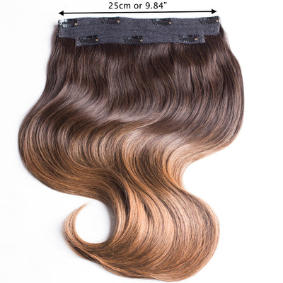 Anchante Hair Clip In Human Extensions Ombre Chestnut