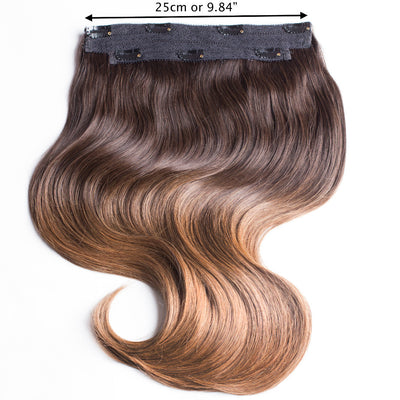"220 Grams | Length 20"" - OMBRE CHESTNUT #T1C6-CLIP IN HUMAN HAIR EXTENSIONS"