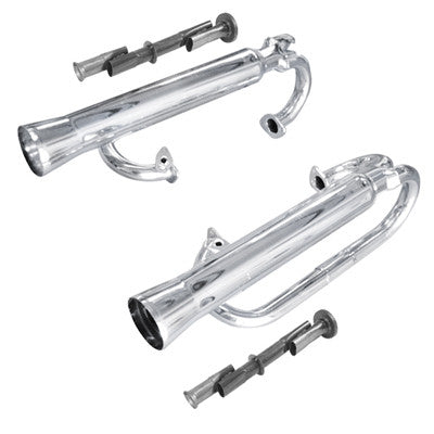 CHROME DUAL CANNON EXHAUST FITS 1200-1600cc