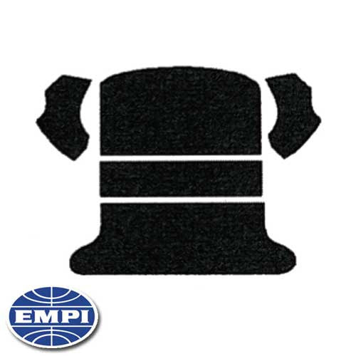 CARPET KIT, BLACK, REAR WELL AND CARGO AREA, 65-72 BEETLE
