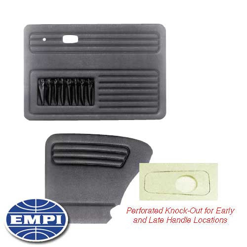 DOOR PANEL KIT, 4 PIECE, UNIVERSAL BEETLE SEDAN 67-77