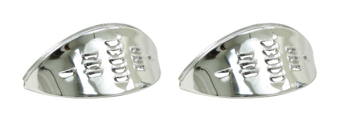 HEADLIGHT EYEBROWS LOUVERED CHROME