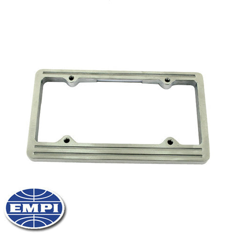 LICENSE PLATE FRAME, BILLET ALUMINUM, WITH LIGHT