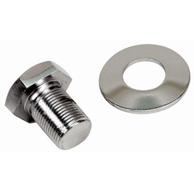 CHROME PULLEY BOLT AND WASHER