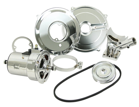 CHROME ALTERNATOR CONVERSION KIT - 75 AMP