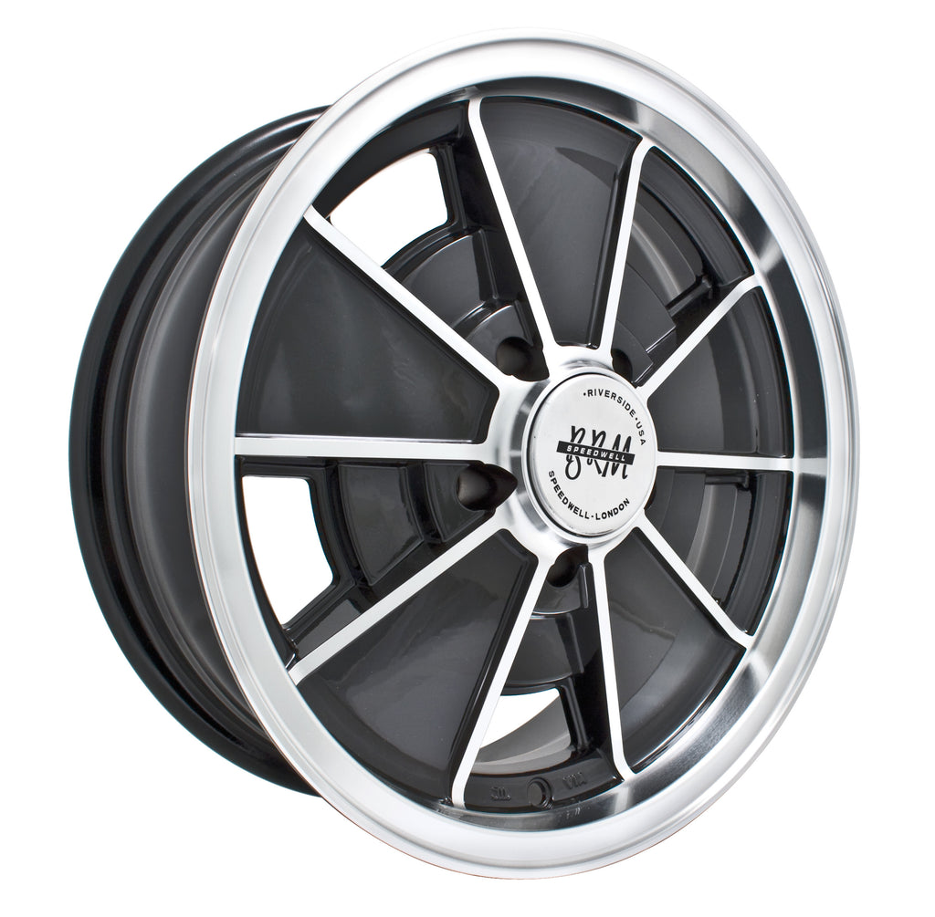 "BRM 5 X 112 HIGH GLOSS BLACK 17"" X 7"" - BUS"