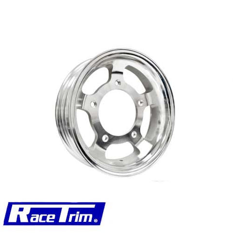 "MACHINE FINISH ALUMINUM CAST WHEEL 4 1/2"" WIDE"