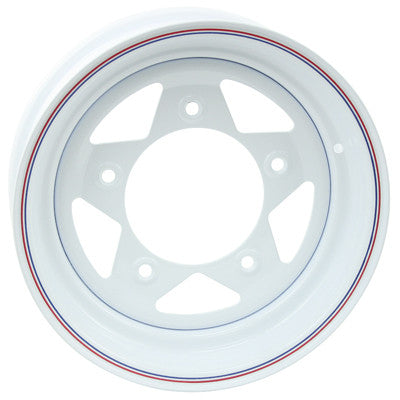 WHITE SPOKE WHEELS 15 x 5 wide with a 2 7/8 back spacing