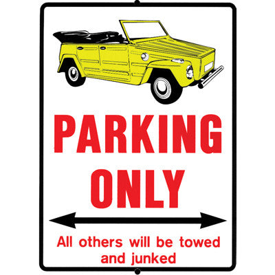 SIGN NO PARKING THING