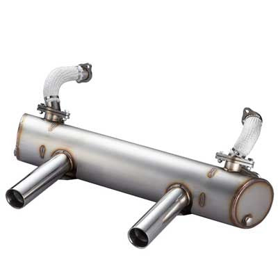 BEETLE, KARMAN GHIA STAINLESS STEEL SUPER FLOW MUFFLER