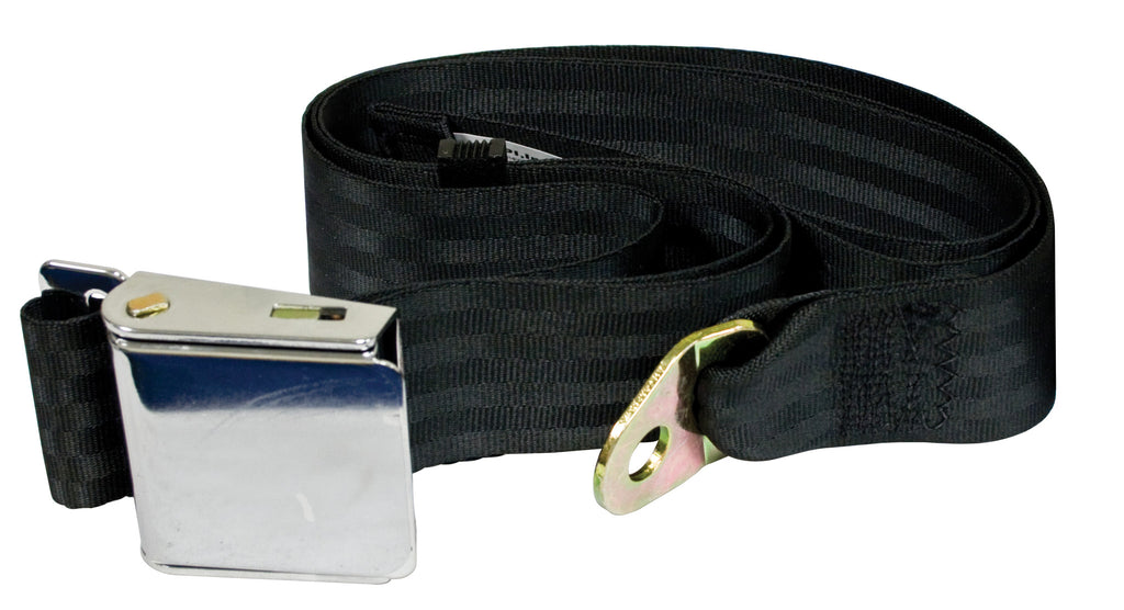 2 POINT LAP BELT WITH CHROME BUCKLE