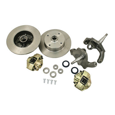 FRONT DISC BRAKE KIT w/ 2 1/2 DROPPED SPINDLES BALL JOINT