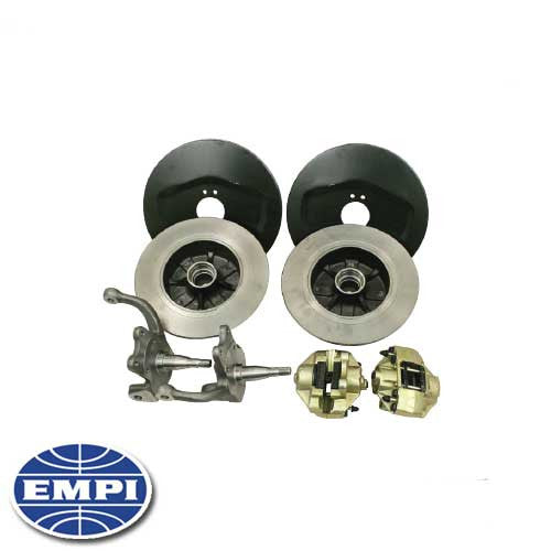 FRONT DISC BRAKE KIT with BLANK ROTORS for Type 1 and Ghia's with ball joint front ends