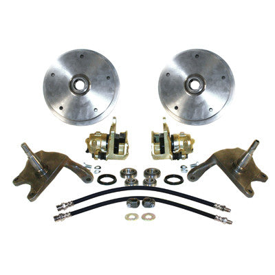 WIDE 5 FRONT DISC BRAKE KIT W/ 2 1/2 DROPPED SPINDLES LINK PIN