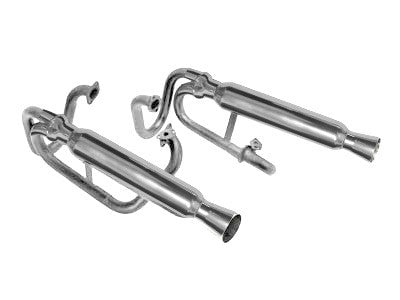 DUAL CANNON EXHAUST FITS 1200-1600cc DUAL CARBS CERAMIC COATED