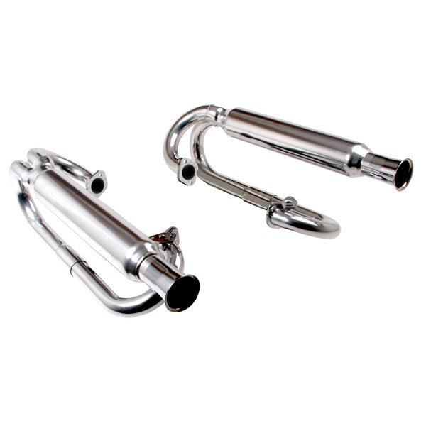 DUAL CANNON EXHAUST FITS 1200-1600cc SINGLE CARB CERAMIC COATED