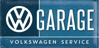 VW GARAGE SERVICE SIGN
